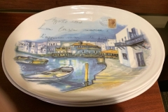 Philatelic-related ceramic dishes donated to the club by Doug Milliken.