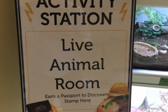 Passport to Discovery Activity Station Live Animal Room