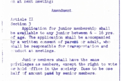 Philatelic Society of Lancaster County Revised By-Laws 1962, Amendment Article II Section 3