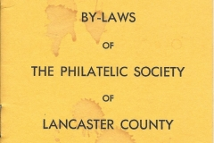 Philatelic Society of Lancaster County Revised By-Laws 1962 Cover Front