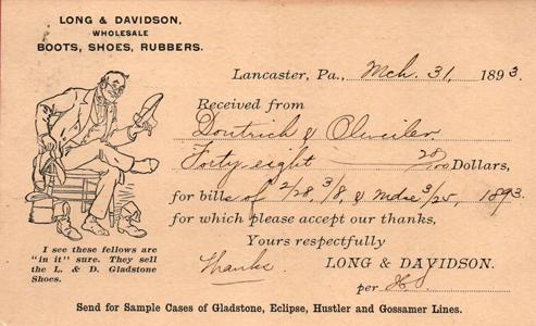 1893 Long & Davidson Postcard