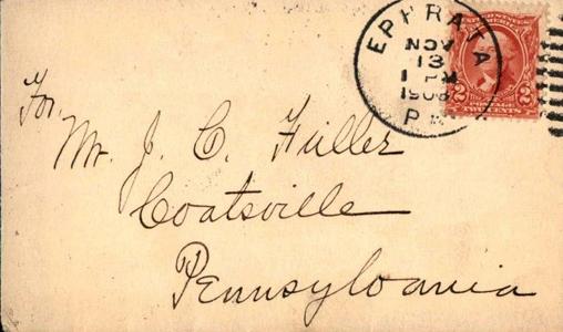 1903 Ephrata to Coatsville