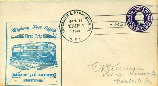 1949 Highway PO First Trip Harrisburg