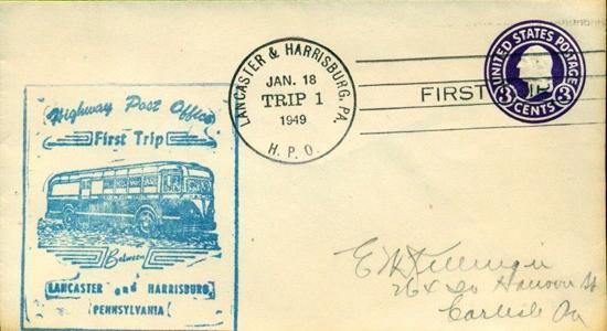 1949 Highway PO First Trip Harrisburg