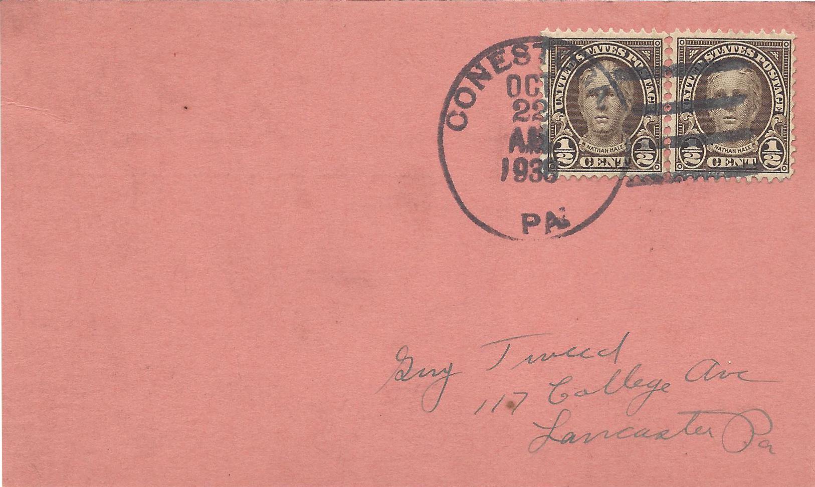 1938-10 Hale pair Conestoga-F