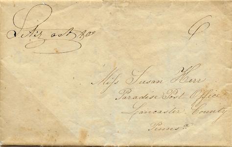 1832 Stampless Litiz PA FLS ms