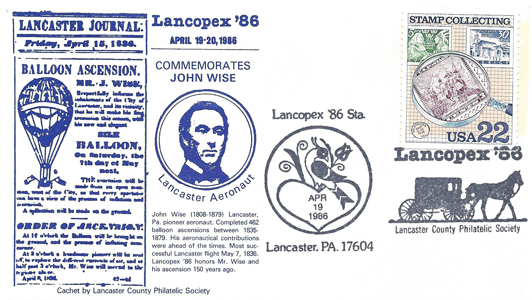 1986 LANCOPEX cachet Wise 19-APR-1