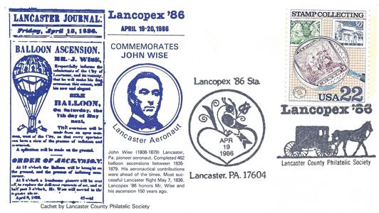 1986 LANCOPEX cachet Wise 19-APR-1