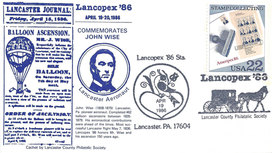 1986 LANCOPEX cachet Wise 19-APR-2