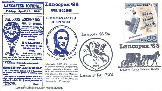1986 LANCOPEX cachet Wise 19-APR-2