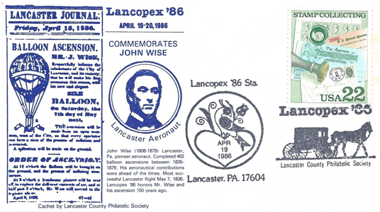 1986 LANCOPEX cachet Wise 19-APR-4