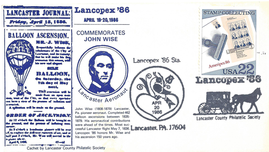 1986 LANCOPEX cachet Wise 20-APR-1