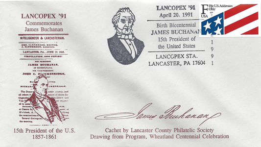 1991 LANCOPEX cachet Buchanan 20-APR-2
