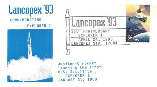 1993 LANCOPEX cachet Explorer 24-APR-2
