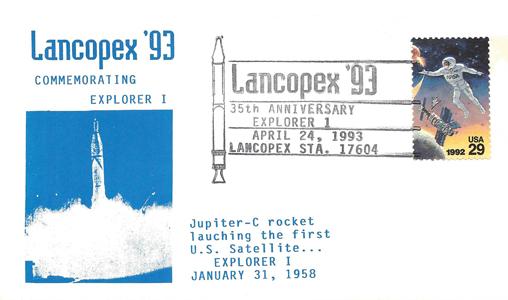 1993 LANCOPEX cachet Explorer 24-APR-3