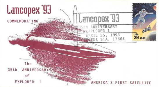 1993 LANCOPEX cachet Explorer 25-APR-1