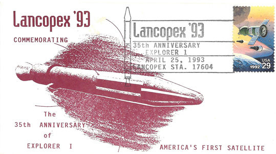 1993 LANCOPEX cachet Explorer 25-APR-2