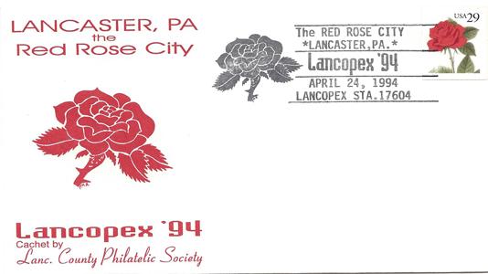1994 LANCOPEX cachet RedRose 24-APR