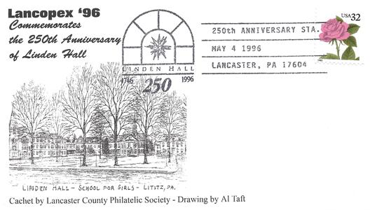 1996 LANCOPEX cachet Linden 4-MAY-1