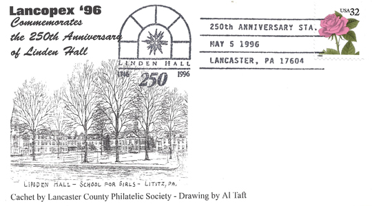 1996 LANCOPEX cachet Linden 5-MAY