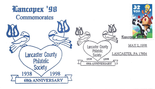 1998 LANCOPEX cachet 60th 2-MAY-1