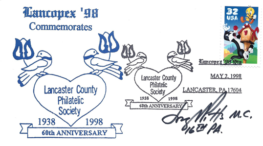 1998 LANCOPEX cachet 60th 2-MAY-2