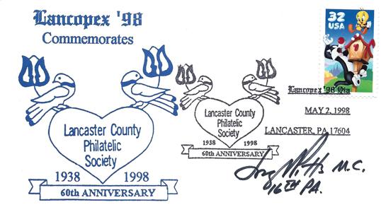1998 LANCOPEX cachet 60th 2-MAY-2