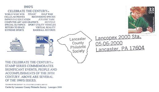 2000 LANCOPEX cachet 1990s 6-MAY