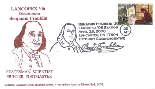 2006 LANCOPEX cachet Franklin 29-APR