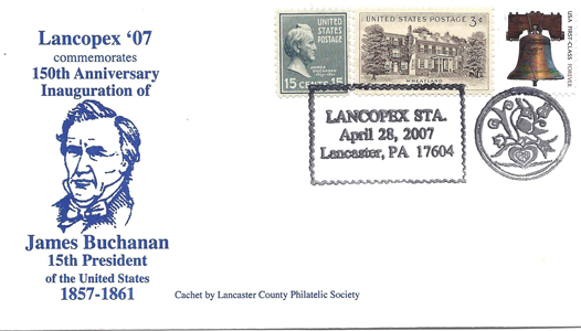 2007 LANCOPEX cachet Buchanan 28-APR