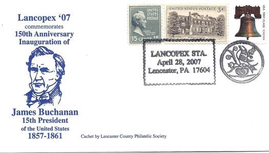 2007 LANCOPEX cachet Buchanan 28-APR