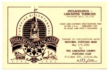 LCPC Postcard 1992