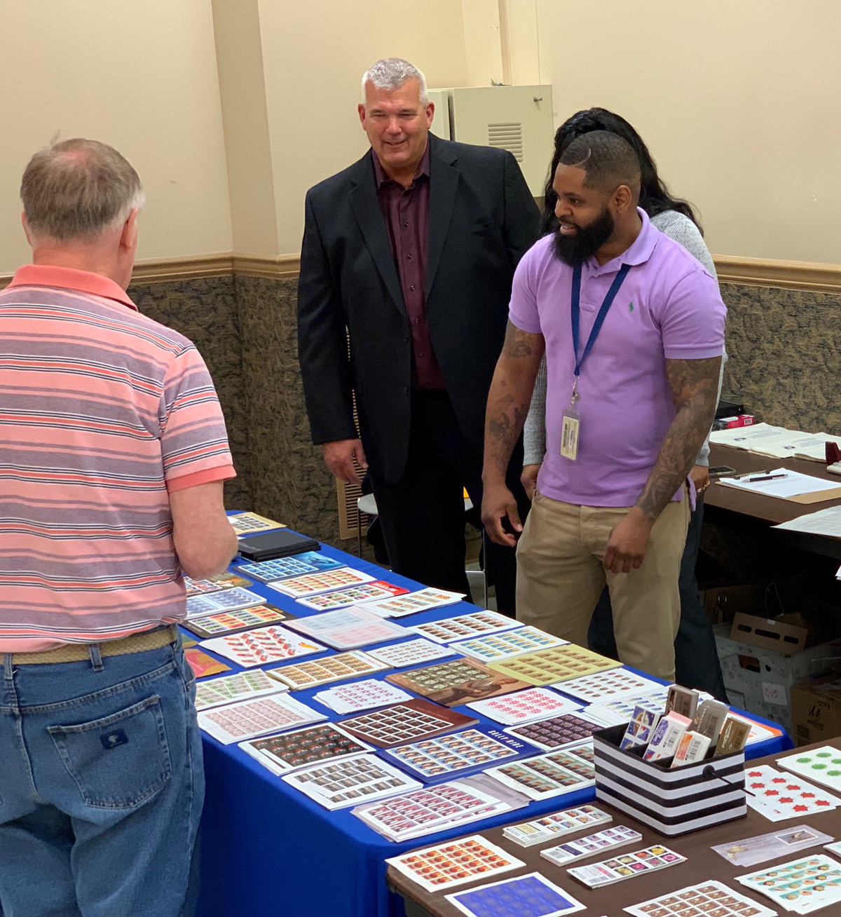 Philately Post Office Stamps Sales Show Lancopex 2019 Postmaster Clerk