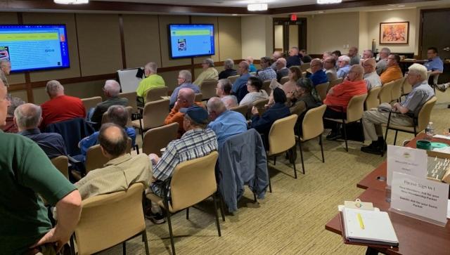 2019-05 Joe Sullivan Lecture, Meeting, Bourse, Door Prizes, 50-50, Auction-11