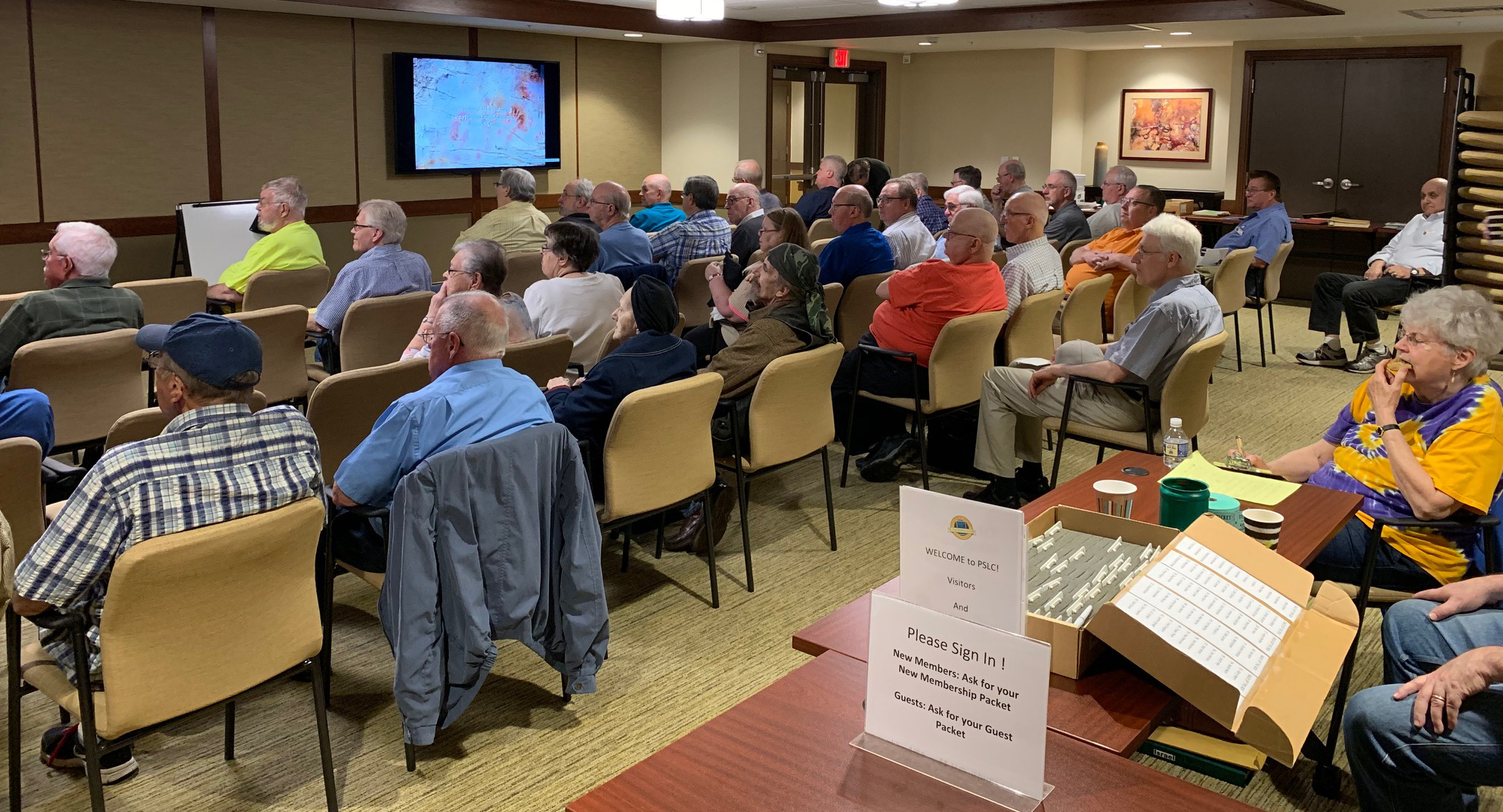 2019-05 Joe Sullivan Lecture, Meeting, Bourse, Door Prizes, 50-50, Auction-12
