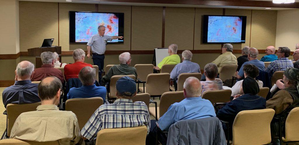 2019-05 Joe Sullivan Lecture, Meeting, Bourse, Door Prizes, 50-50, Auction-14