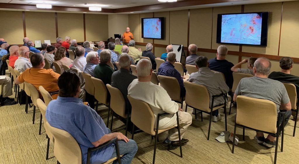 2019-05 Joe Sullivan Lecture, Meeting, Bourse, Door Prizes, 50-50, Auction-4
