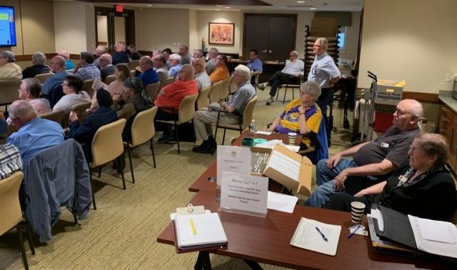 2019-05 Joe Sullivan Lecture, Meeting, Bourse, Door Prizes, 50-50, Auction-7