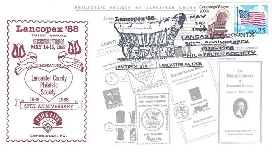 1988 LANCOPEX cachet 50th 14-MAY