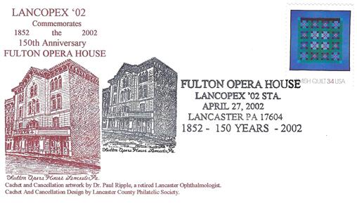 2002 LANCOPEX cachet Fulton 27-APR