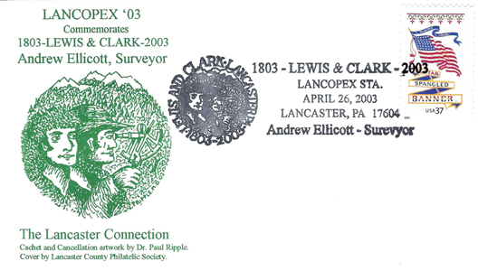 2003 LANCOPEX cachet LewisClark 26-APR