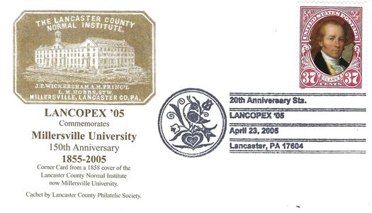 2005 LANCOPEX cachet Millersville 23-APR