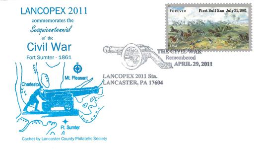 2011 LANCOPEX cachet Civil War 29-APR