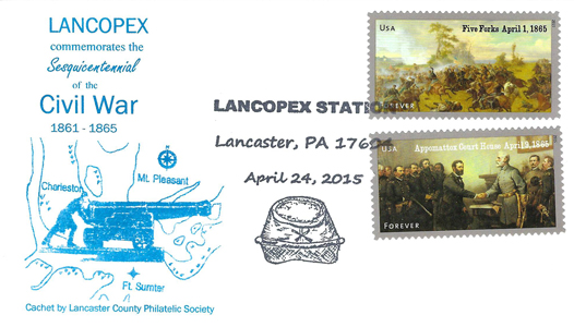 2015 LANCOPEX cachet Civil War 24-APR