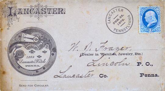 1879 Lancaster Watch Precancel-F