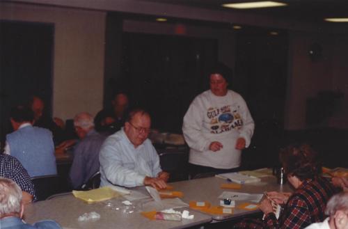 Starting in Back Row, from L->R: Gil Slotter, Walter Moreau, Mark King, Ben Heller, Jack Deaner, Leslie Botte, Cathy Maine, and Bob Stevenson.
