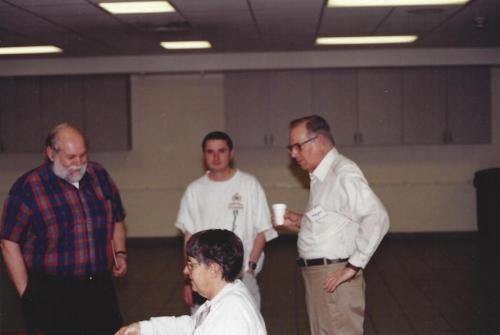 From L->R: Dick Colberg, Pete Billis, Bill Greiner, and Lucy Eyster.