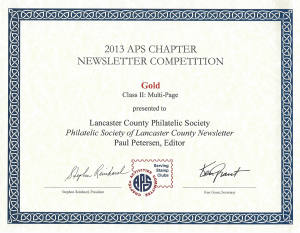 2013 APS Gold Award