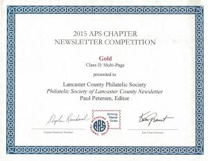 2015 APS Gold Award