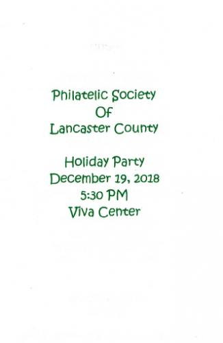 2018-12 PSLC Holiday Dinner at the Garden Cafe